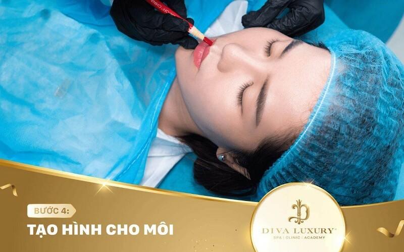 Quy trình phun môi Hồ Chí Minh tại DIVA
