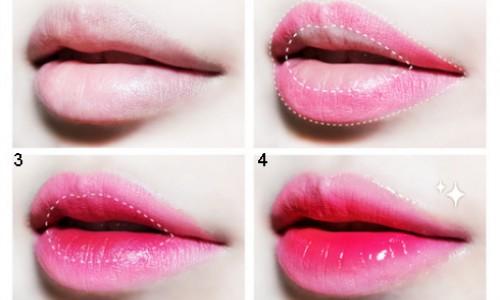 Trang điểm giúp môi mỏng hơn